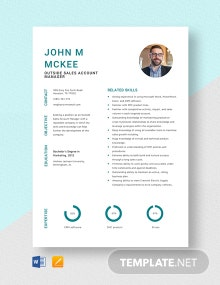 Outside Sales Account Manager Resume Template