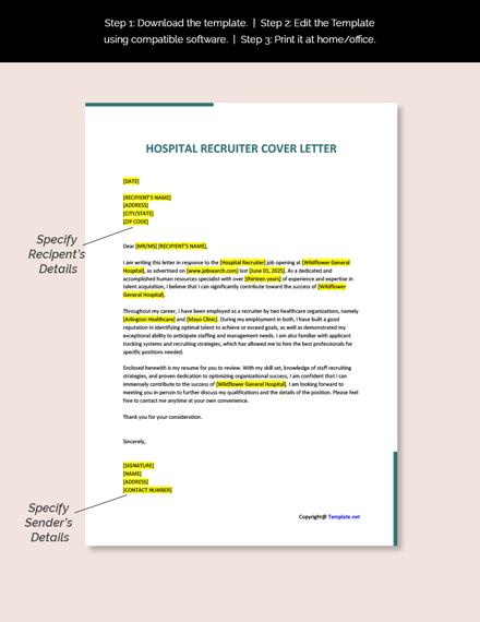 Hospital Recruiter Cover Letter Template