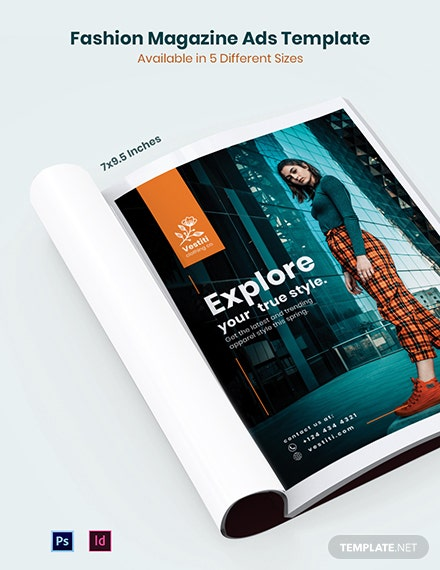 Fashion Magazine Ads Template