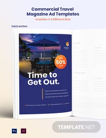 Free Commercial Travel Magazine Ads Template