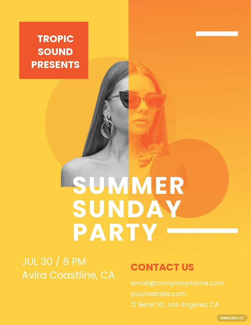 Creative Summer Sunday Party Flyer Template