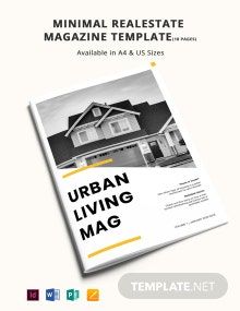 Free Minimal Real Estate Magazine Template
