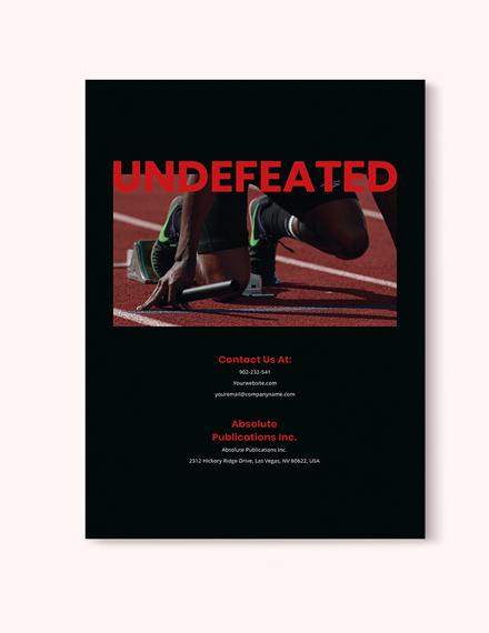 Sample Minimal Sports Magazine