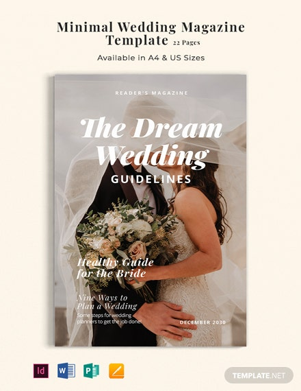 Free Minimal Wedding Magazine Template