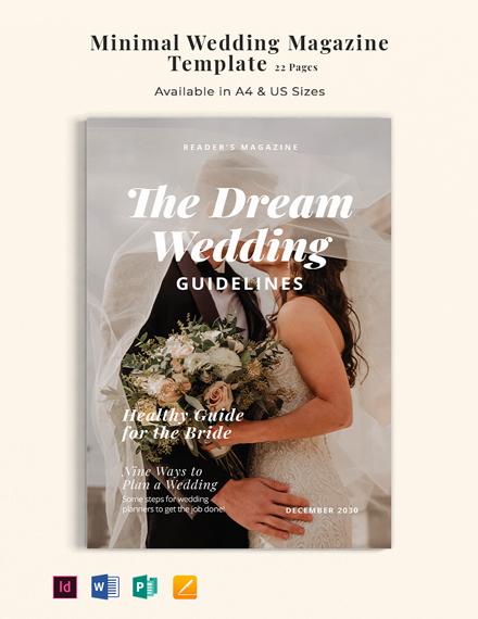 Free Minimal Wedding Magazine Template