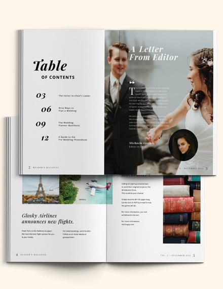 Minimal Wedding Magazine Template