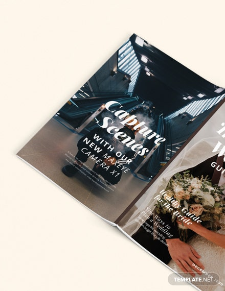 Sample Minimal Wedding Magazine