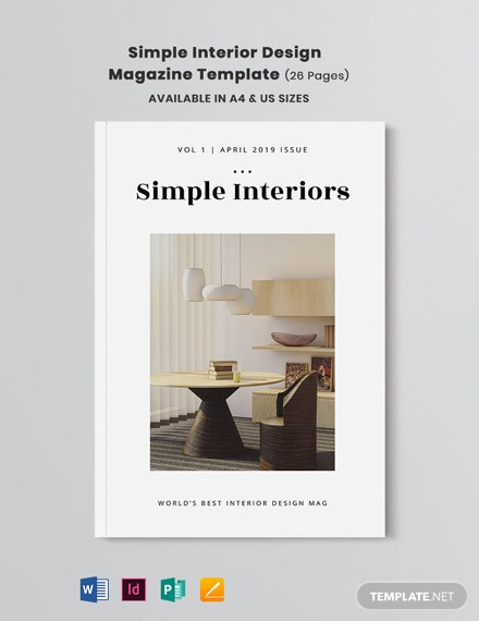 Free Simple Interior Design Magazine Template Download Undefined Workbooks In Adobe Indesign Microsoft Word Microsoft Publisher Apple Pages Template Net