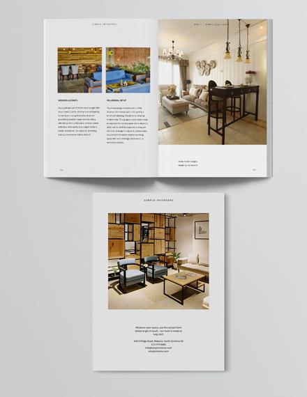 Sample Simple Interior Design Magazine