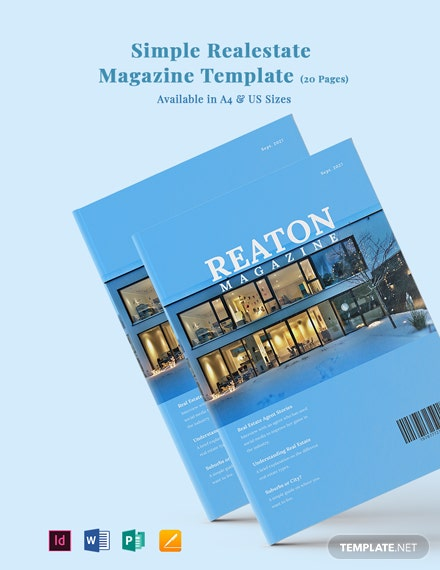 Free Simple Real Estate Magazine Template