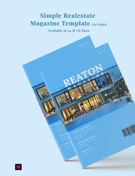 simple realestate magazine