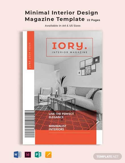Free Minimal Interior Design Magazine Template