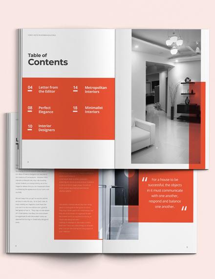 Minimal Interior Design Magazine Template