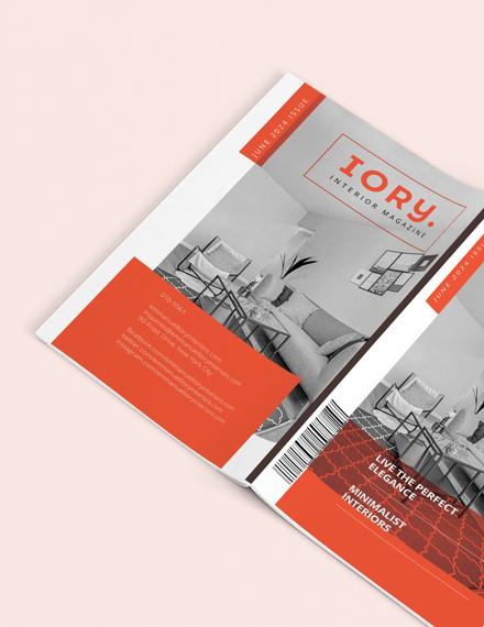 Sample Minimal Interior Design Magazine