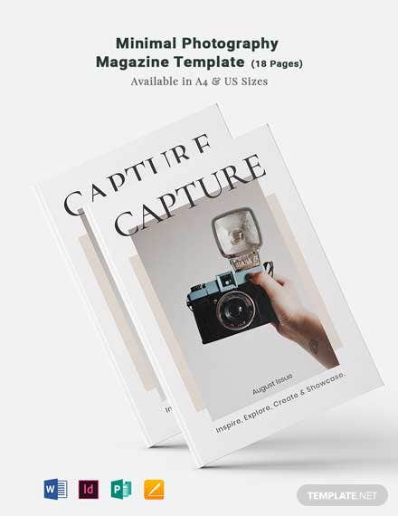 Free Minimal Photography Magazine Template