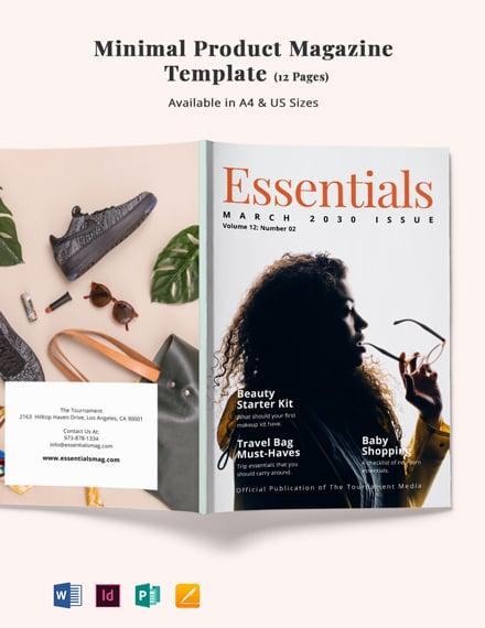 Free Minimal Product Magazine Template