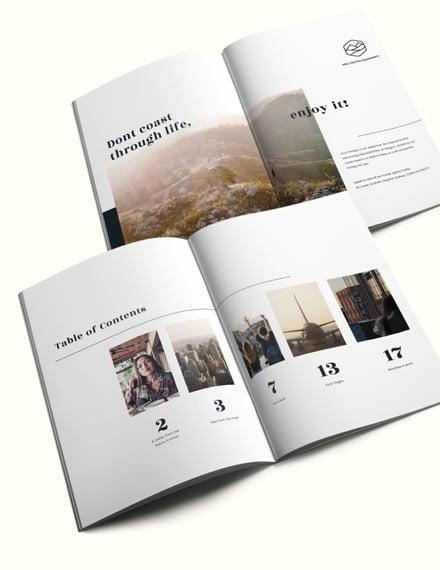 Minimal Travel Magazine Template