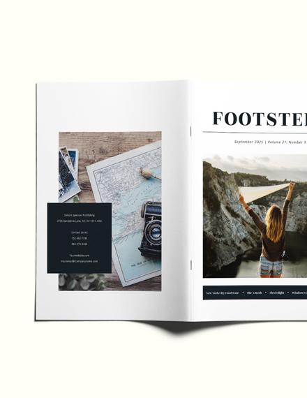 Sample Minimal Travel Magazine