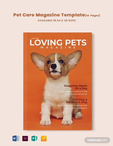 Pet Care Magazine Template