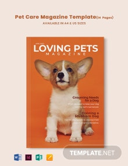 Pet Care Magazine Template