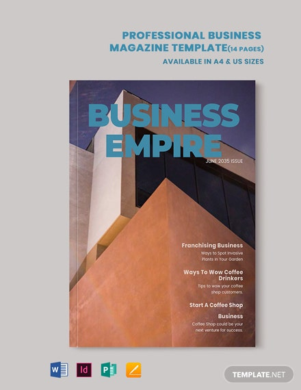Professional Business Magazine Template