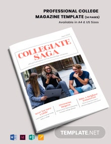 Professional College Magazine Template