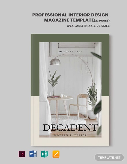 Professional Interior Design Magazine Template