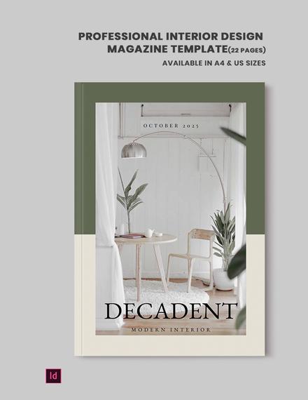 professional interior design magazine