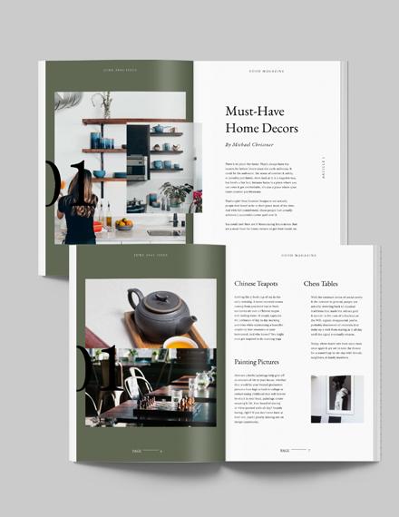 Sample Professional Interior Design Magazine