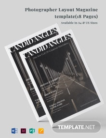 Photographer Layout Magazine Template