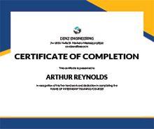 Free Engineering Internship Certificate Template