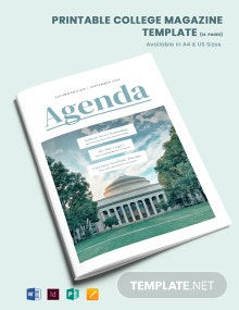 Free Printable College Magazine Template