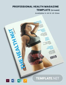 Professional Health Magazine Template