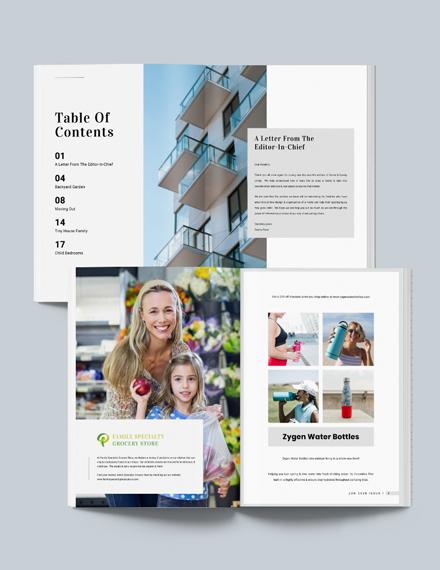 Professional Real Estate Magazine Template