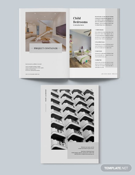 Sample Professional Real Estate Magazine