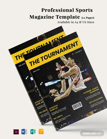 Professional Sports Magazine Template