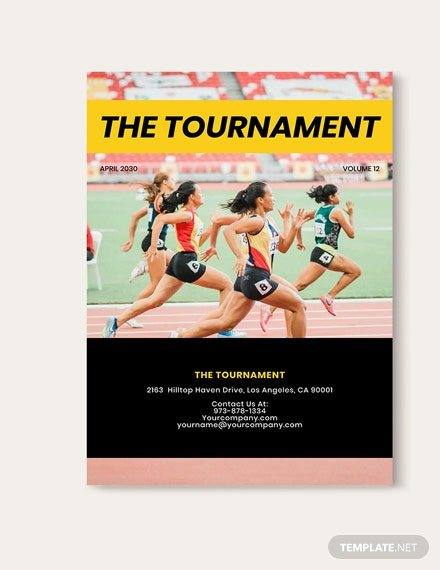 Sample Professional Sports Magazine