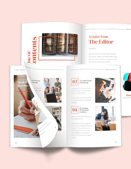 Professional Student Magazine Template