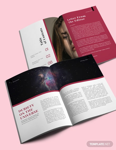 Science Layout Magazine Template