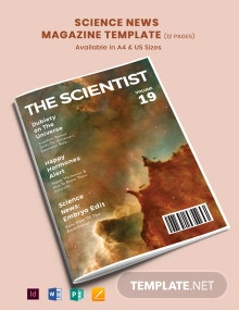 Science News Magazine Template