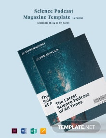 Science Podcast Magazine Template