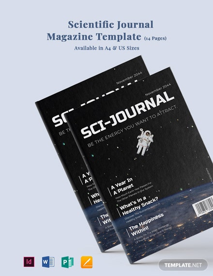 Scientific Journal Magazine Template