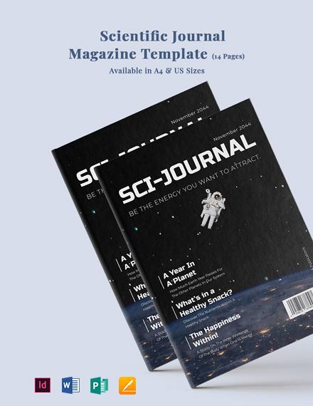 Scientific Journal Magazine Template