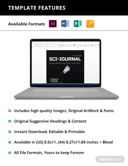Simple Scientific Journal Magazine