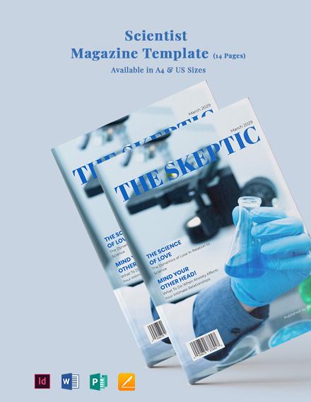 Scientist Magazine Template