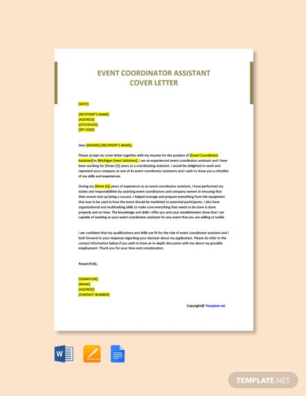 Cover Letter For Event Coordinator from images.template.net
