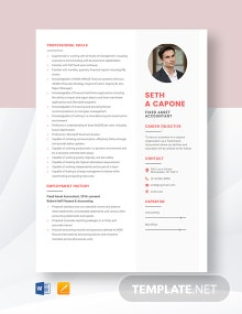 Fixed Asset Accountant Resume Template