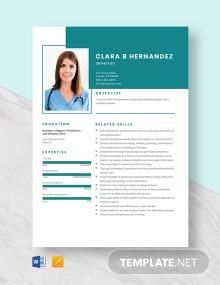 Orthotist Resume Template