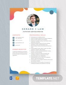 Outpatient Services Director Resume Template
