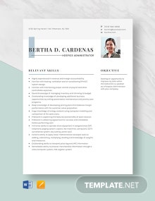 Hospice Administrator Resume Template